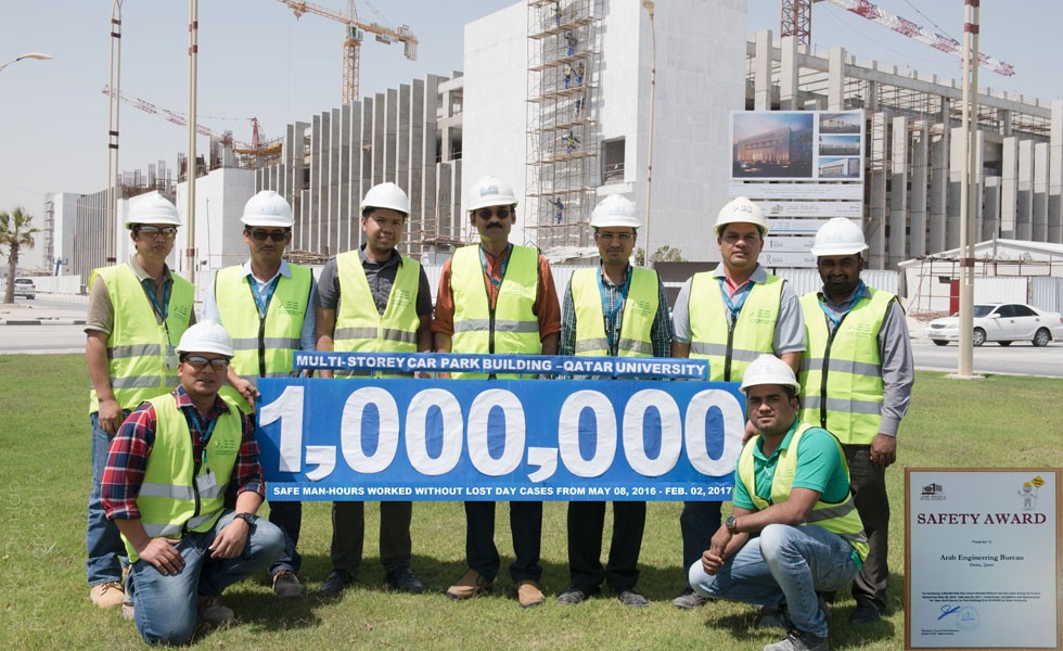 1 Million Safe Man Hours Multi-Storey Car Park Building For QU